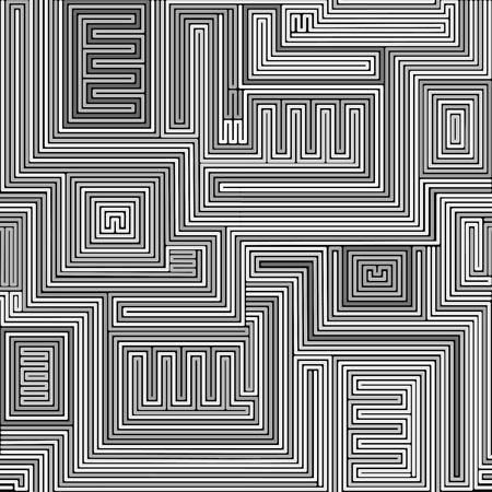 lijntekening: Naadloze stammen abstract ontdaan geometrische achtergrond. vector illustratie