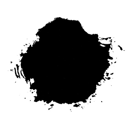 ink stain: grunge ink stain isolated on white, vector