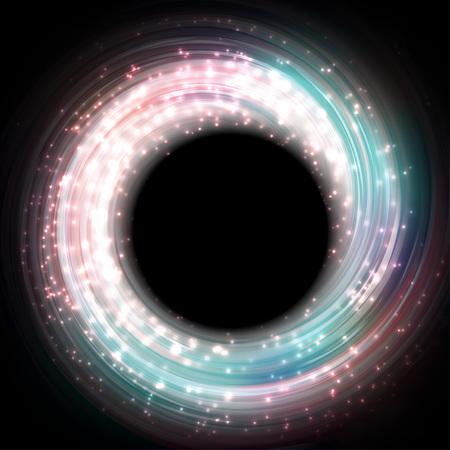 흐리게 마술 네온 빛 곡선 블루 roze 추상적 인 배경 그림
