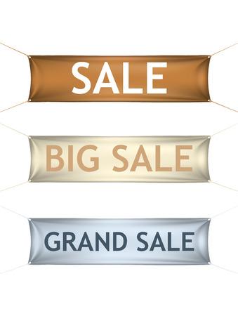 grand sale: Big grand sale banners.