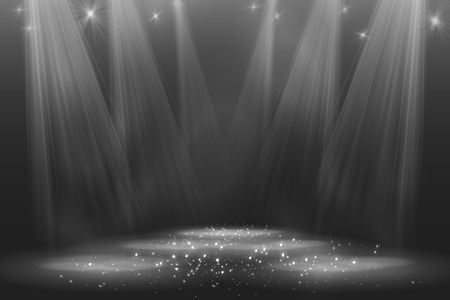 dark room: Spotlight vintage background illustration