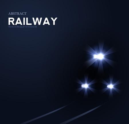 nights: lights of train, abstract