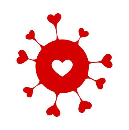 stylish couple: Happy Valentine day card hearts background Illustration