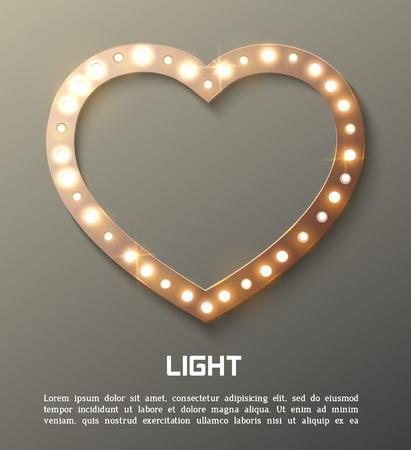corazon: retro luz de la estrella.