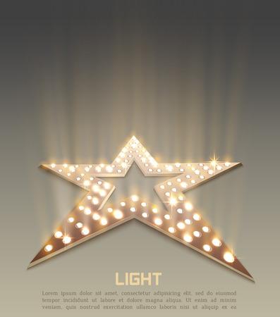스타 복고풍 빛