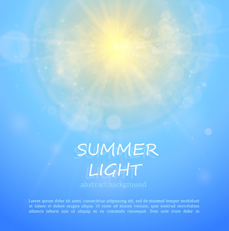 bright sun: The sun shines bright in summer. Abstract background for your design.