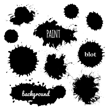 paint splash: Collection of paint splash. Vector set of brush strokes. Isolated