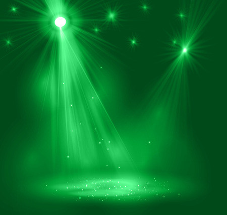 carpet: Spotlight on stage with smoke and   light.  Illustration