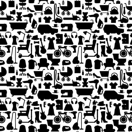Shopping icons pattern with theme for sale, advertising and design. Vector