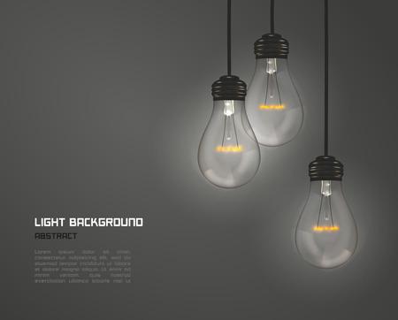 fond de texte: Creative design des lampes de la nature Illustration