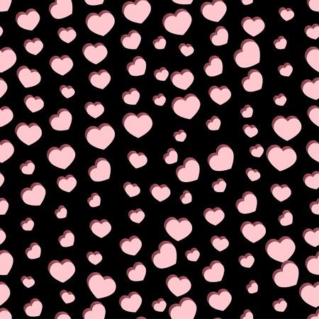 Seamless stylish Valentine's Day pattern with hearts. illustration Banco de Imagens - 52547167