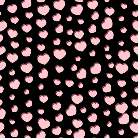 Seamless stylish Valentine's Day pattern with hearts. illustration Illustration