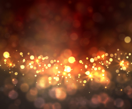 bokeh: Festive light background with bokeh and stars