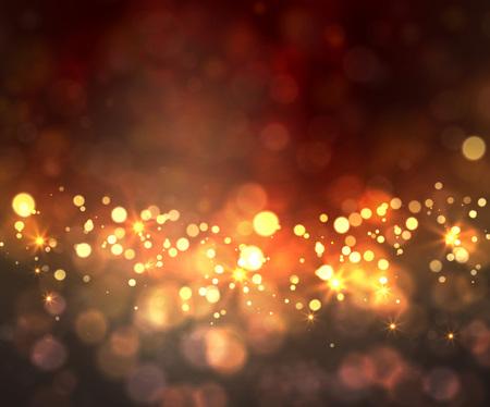 nowy rok: Szczęśliwego tła z bokeh światła i gwiazdy Ilustracja