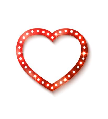shine: Shine heart with shadow, vintage card.