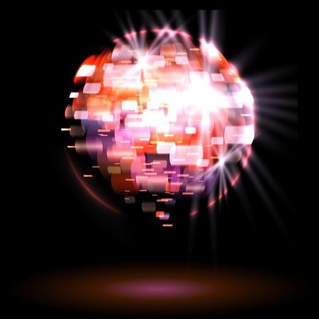 Partito luci da discoteca palla Eps di illustrazione vettoriale 10