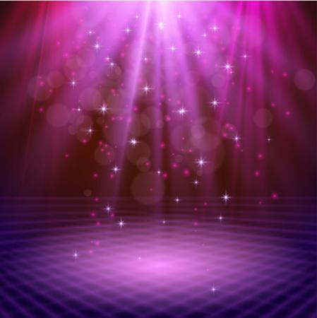 the light rays: spotlight effect scene background vector Illustration eps 10 Illustration