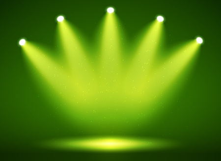Spotlight on stage for your design. Colorful light. Vector illustration.