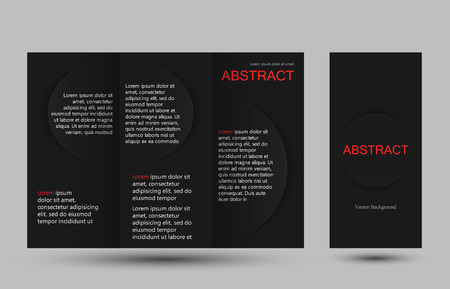 strict: Strict simple design templates collection for banners, flyers, placards and posters. Vector