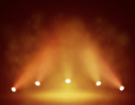 Spotlight op het podium voor uw ontwerp. Kleurrijke licht.