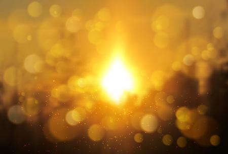 sol radiante: Suave desenfoque fondo de la sol paisaje.