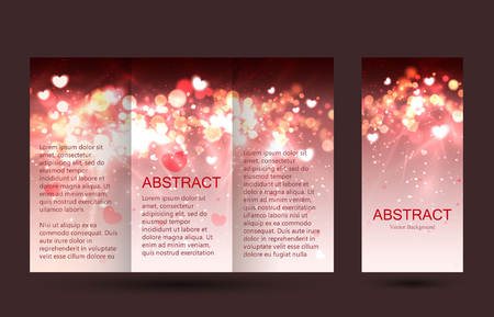 placecard: Romantic design templates collection for  placards and posters. Bokeh light design.