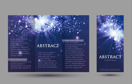 placecard: Design templates collection for banners, flyers, placards and posters. Bokeh light design.  Vector illustration