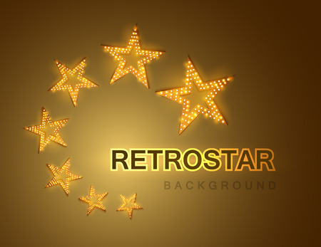 signboard form: Retro stars abstract background for your design, light and shining. Vector