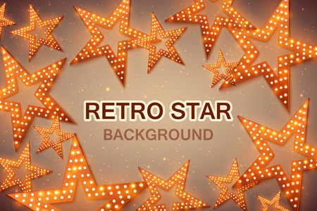 Retro stars abstract background for your design, light and shining. Vector