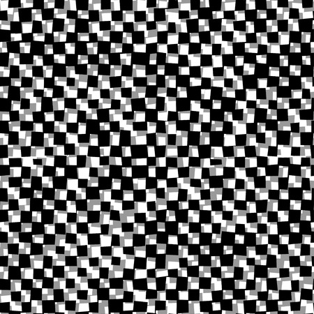 distort: Black and white distort checkered abstract background, vector Illustration