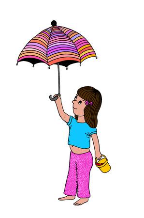 woman white shirt: Beautiful cute girl, T-shirt Graphics illustration design for children, vector
