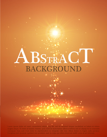 Abstract  colorful magic light background with light. Vector illustration.