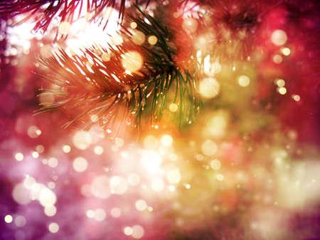 Closeup of Christmas-tree background