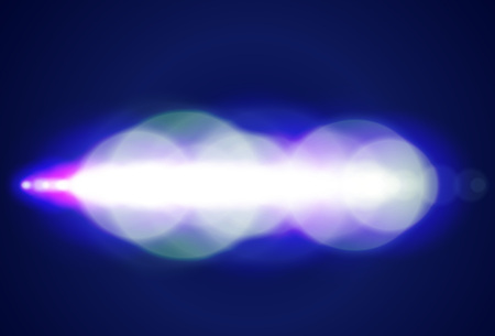 starfield: Abstract blue circle bokeh background.