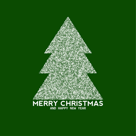 newyear: Vector christmas tree made from dots