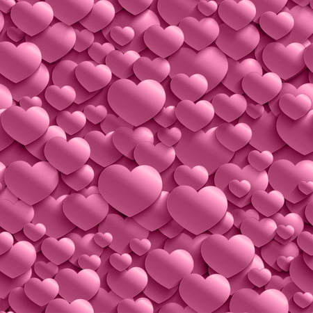 Seamless stylish Valentines Day pattern with hearts.