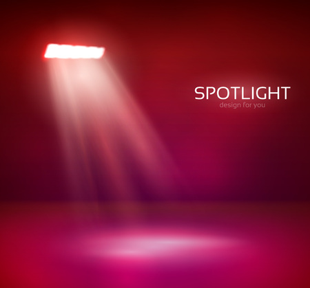 Licht und Leuchten für Ihr Design. Farbiger Hintergrund.