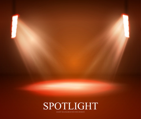 Lights and Shining for Your Design. Color Background.