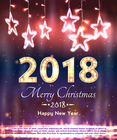 merry christmas and happy new year banner stock vector 88602272