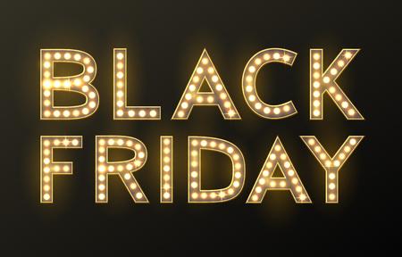 Black Friday sale background, discount item illustration.