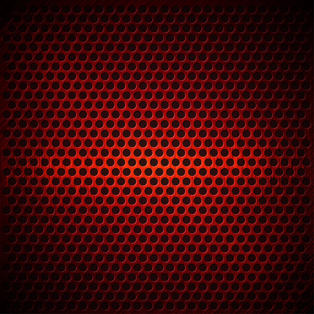Red Dotted Metal Background Design