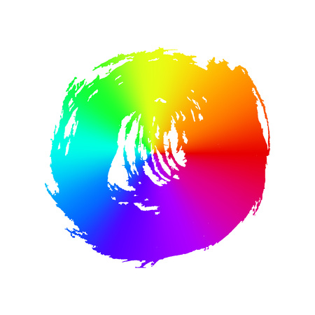 Rainbow Brush Strokes - Backdrop For Your Text Illustration