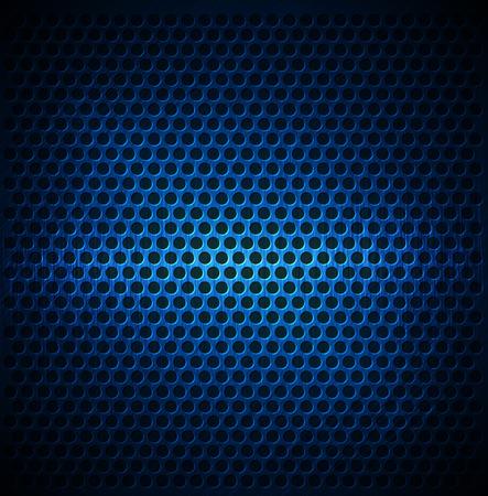 Blue Dotted Metal Background Design