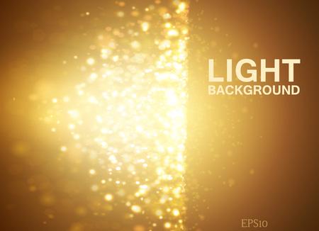 Lights on yellow background bokeh effect. Vektoros illusztráció