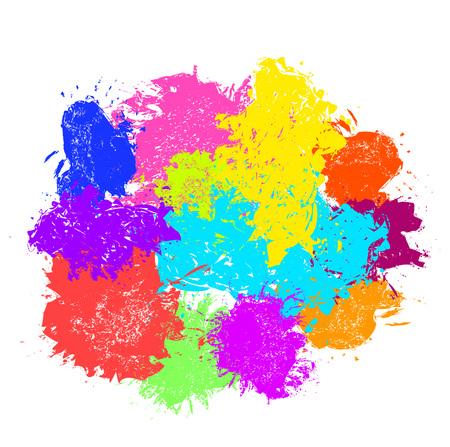 paint splash. Vector set of brush strokes Stock fotó