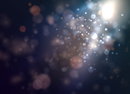 Soft nature bokeh with smooth light. Vector.