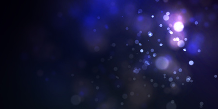Soft nature bokeh with smooth light. Blue night. Vector. Ilustrace