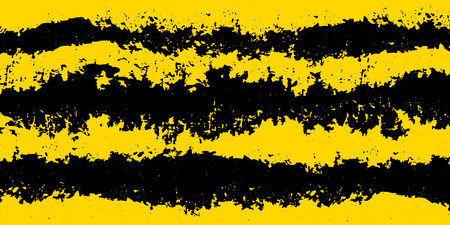 Grunge attention background: yellow and black stripes for notice backdrop. Vector.