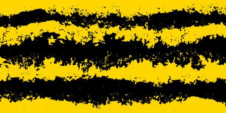 Sfondo attenzione grunge: strisce gialle e nere per lo sfondo dell'avviso. Vettore.