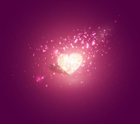 Cuore splendente. Morbido sfondo bellissimo per il vettore di progettazione di San Valentino.